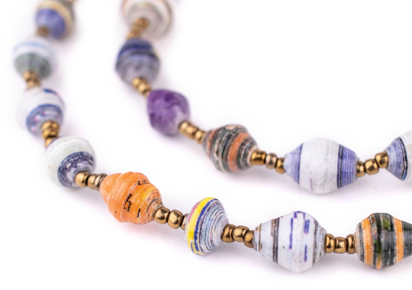 Multicolor Paper Bead Necklaces