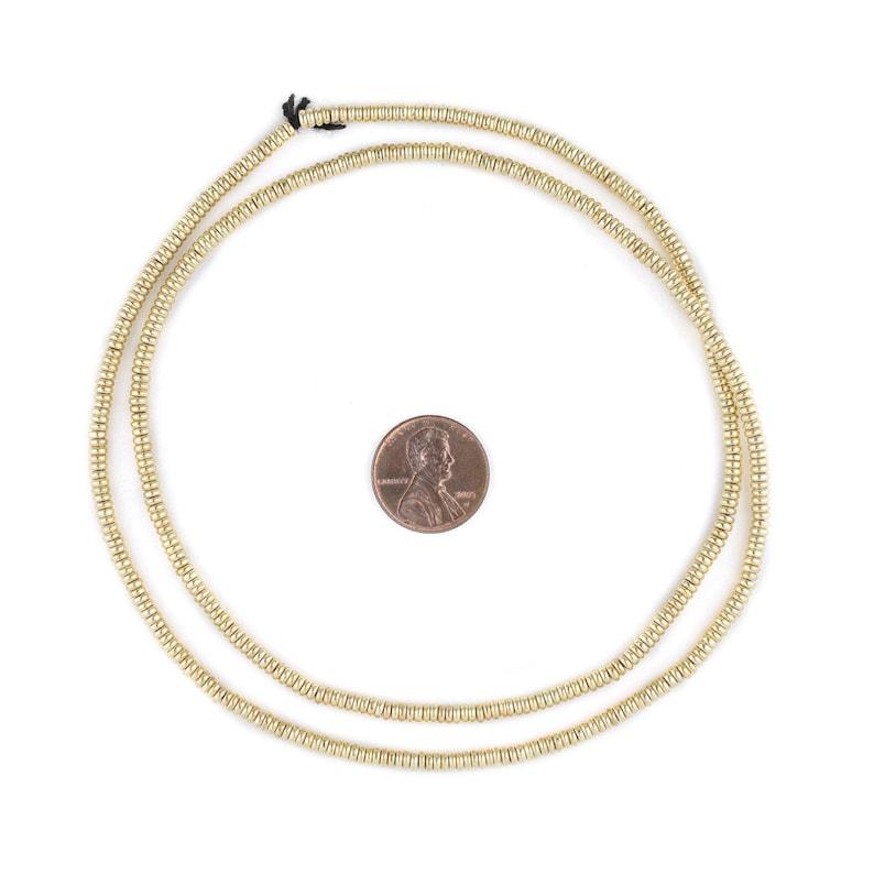 Ethnic Metal Beads Metal Spacer Beads Ethnic Brass Beads Gold Heishi Beads 3mm Brass Beads 500 Gold Smooth Heishi Beads 3mm