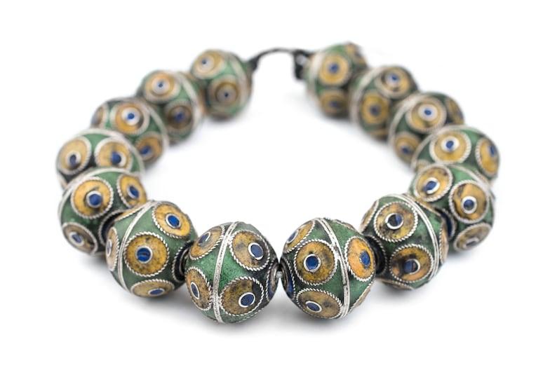 Moroccan Small light Berber necklace multicolor stones