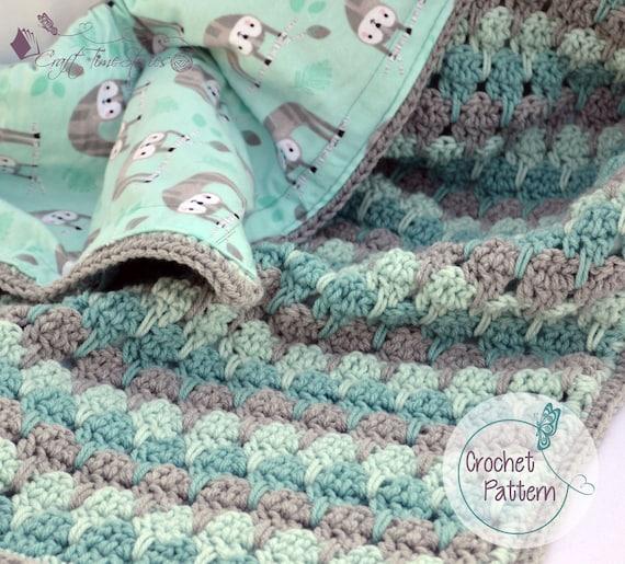 Sloth Crochet Baby Blanket Pattern Reversible Baby Blanket Etsy
