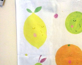 Teatowel - Kitchen Towel - 'Friendly Fruit'