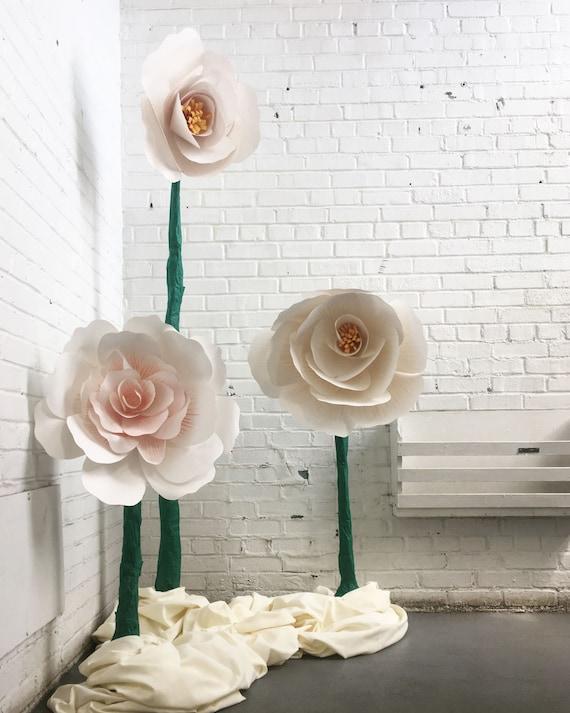 Giant paper flowers paper flower sculpture wedding flowers etsy image 0 mightylinksfo