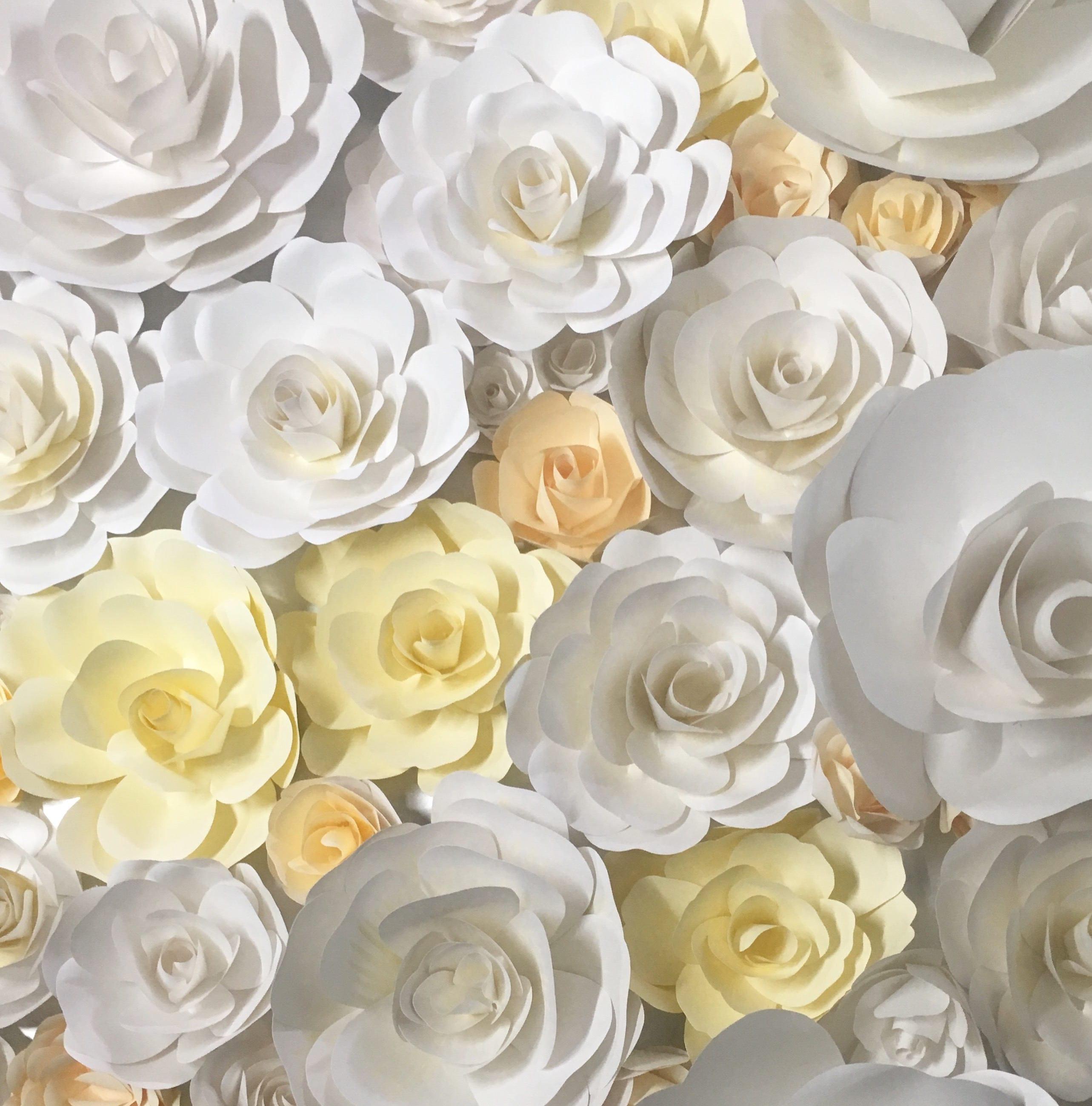 Paper Flower Wall Paper Flower Backdrop wedding decoration   Etsy