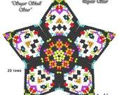 3D PEYOTE STAR Beading Pattern Tutorial Sugar SKULL Star Basic Instructions