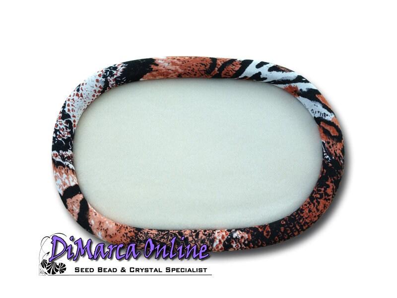 Ovale 30 x 19 cm perles plateau Silaba «serpent «serpent «serpent brun & noir» bc08e9