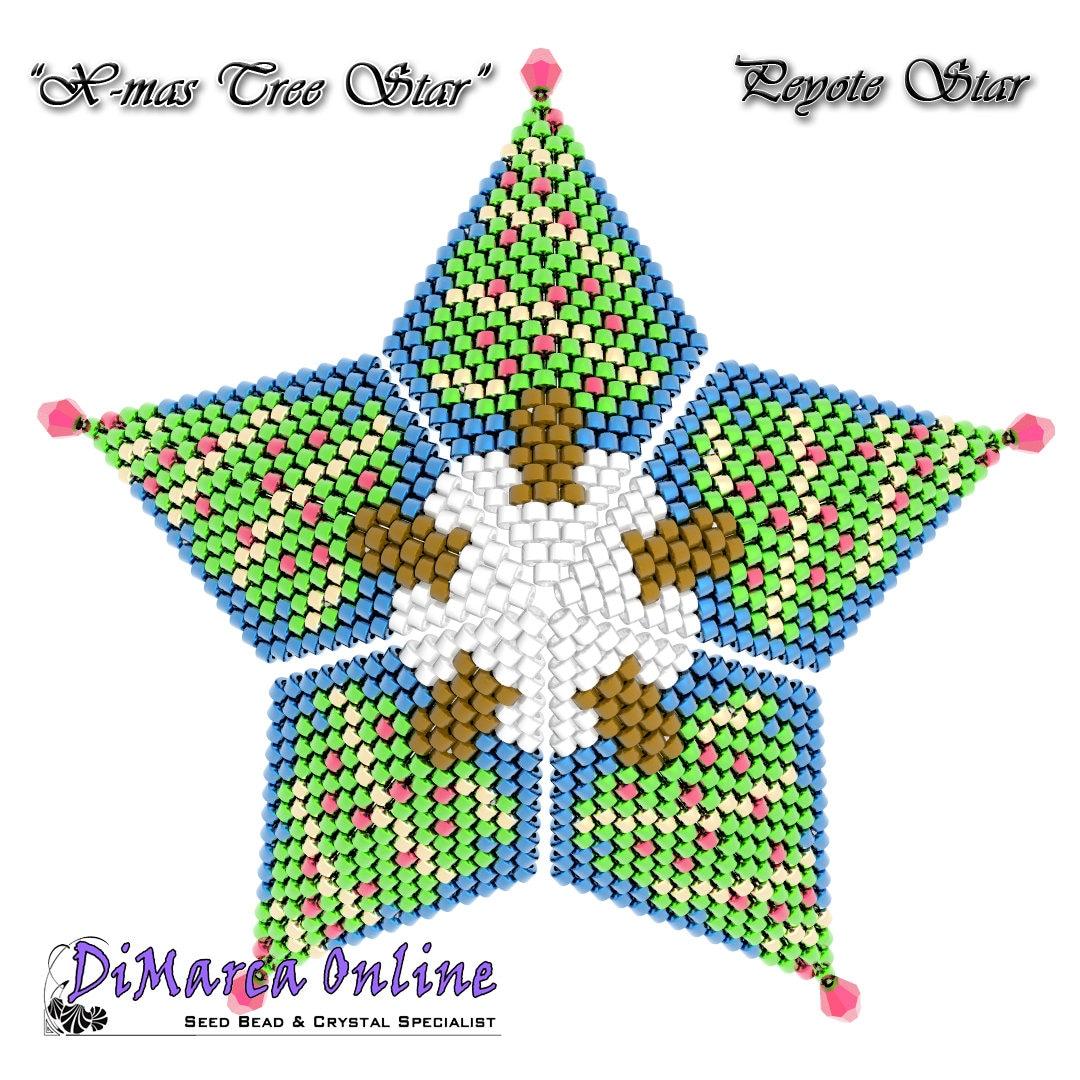 3d Christmas Tree Pattern: 3D PEYOTE STAR Beading Pattern/Tutorial CHRISTMAS Tree