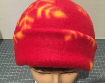 Red Snowflake Fleece Hat SALE