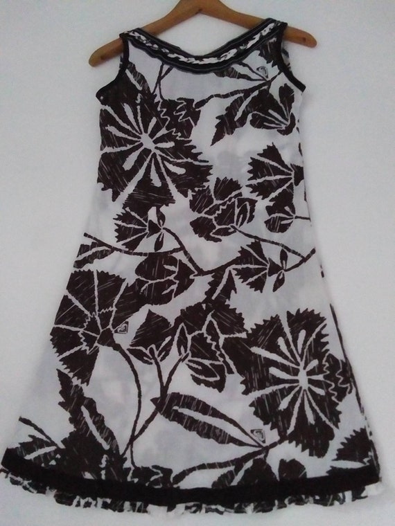Vintage French Cotton 60s Print Dress XS 00