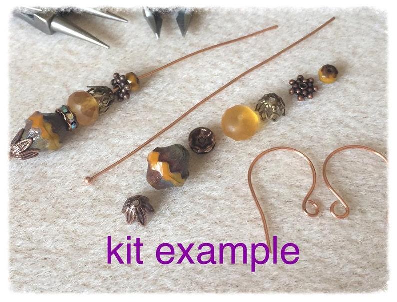 Do it Yourself Easy Pumkin Spice Earring Kit U CAN DO IT Exclusive Earring Kit Simple Easy