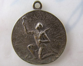 Religious Medal Saint Expeditius Pure Bronze Religious Charms Pendants Jewelry Findings