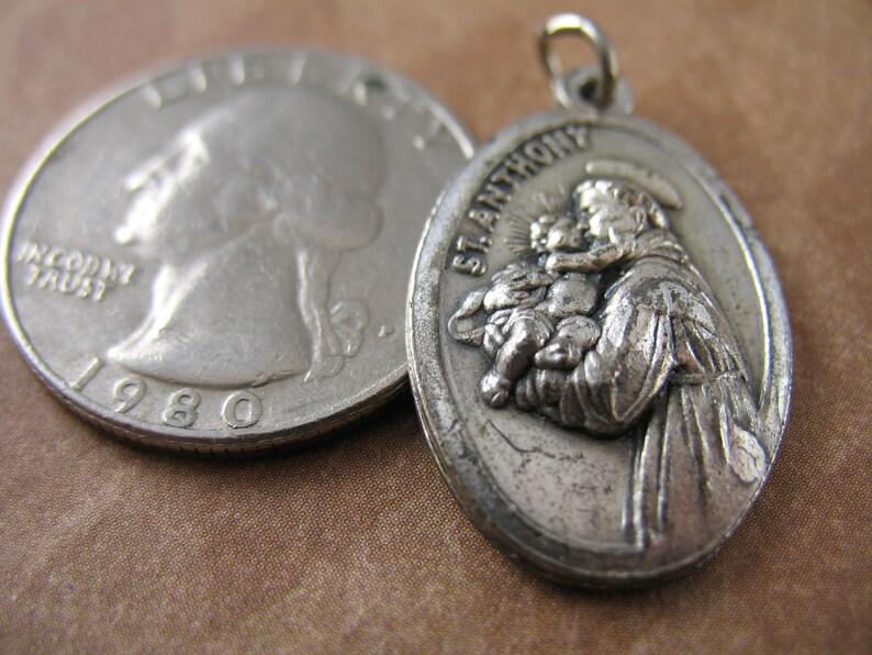Vintage Saint Anthony Relic Medal Religious Charms Pendants Catholic Saints
