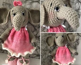 Ela the Elephant Girl  ( Pattern Only )