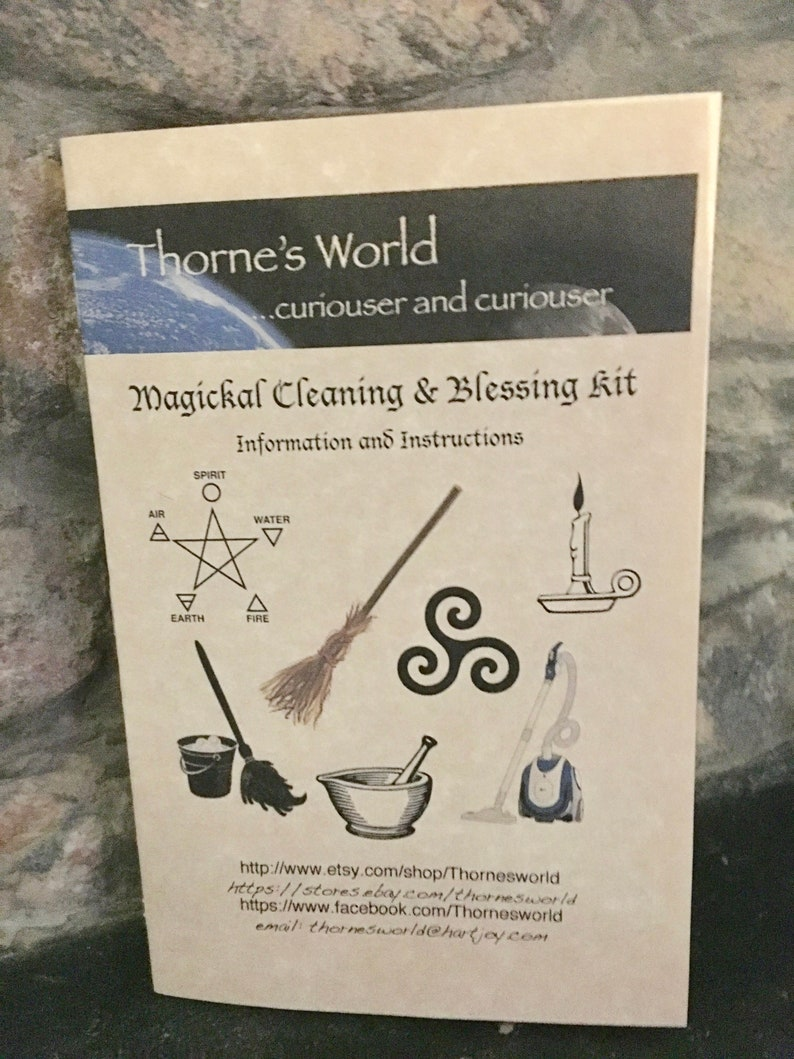 Magickal Home Cleaning & Blessing Kit - Magick Spells, Witchcraft, Magic,  Wicca, Hermetic, Pagan, Hoodoo, Voodoo, Voudun, Santeria, Occult