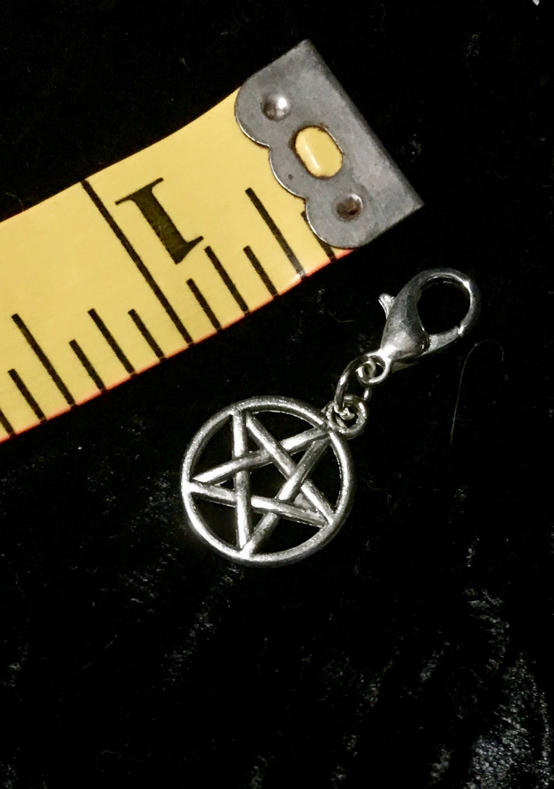 Pentacle - Tibetan Silver or Antique Brass Pagan Charms - Spell,  Witchcraft, Wicca, Pagan, Hoodoo, Santeria, Magick