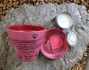 Gift for Pet Loss - Pet Sympathy Gift - Painted Flower Pot - Pet Memorial Gift - Cat Sympathy - Dog Sympathy - Garden Memorial Pet