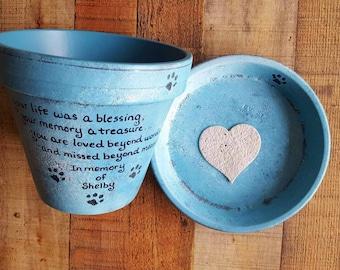 Pet Loss Gift - Pet Memorial Gift - Pet Sympathy Gift - Painted Flower Pot - Dog Memorial - Cat Memorial - Pet Memorial Planter