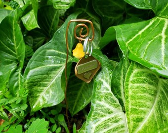 Copper Planter Stake (Tag not included) - Pet Tag Display - Photo Display for Planter
