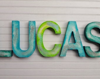 Kids Name Letters - Name Wall Letters - Rustic Room Decor - Kids Wall Art - Nursery Name Letters - Baby Name Letters