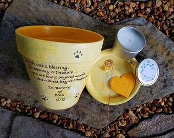 Personalized Pet Memorial - Dog Memorial Gift - Cat Memorial Gift - Pet Sympathy - Painted Flower Pot - Pet Loss Gift - Garden Memorial Pet