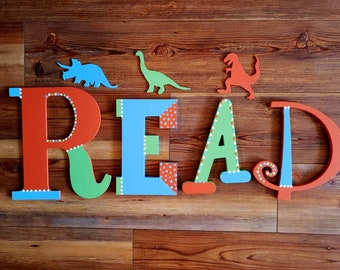 READ Letters - READ Sign - Kids Wall Decor - Book Room Letters - Reading Room - Reading Nook - Read for Kids