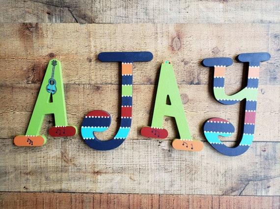 Nursery Name Sign Baby Name Wall Art Kids Name Letters Etsy