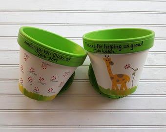 Teacher Gift - Painted Flower Pot - Gift from Students - End of Year Teacher Gift - Teacher Christmas Gift - Teacher Appreciation