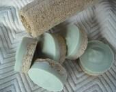 Peppermint Tea Tree Loofah Foot Soap Scrub Soap Cold Process Soap Goats Milk Soap Includes Cotton foot stamped drawstring bag