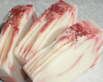 Sweet Red Clover Soap / Sweet Citrus Berry Scent / Best Seller / Cold Process Soap