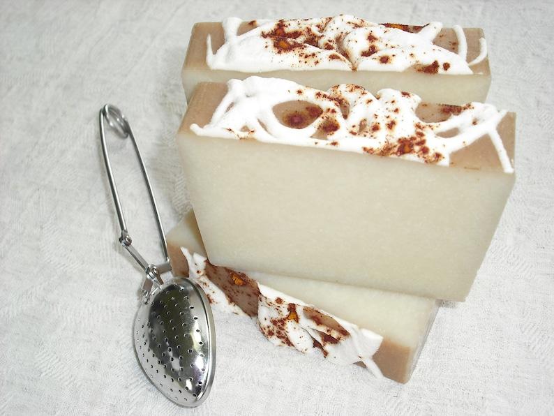 Vanilla Chai Tea Soap /  Rich Sweet Warm Spicy Scent / Autumn image 0