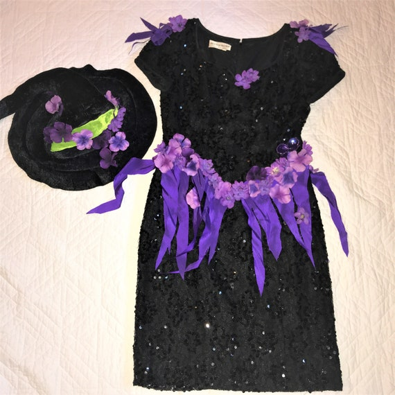 Day of the Dead Costume  dress hat womens size 10
