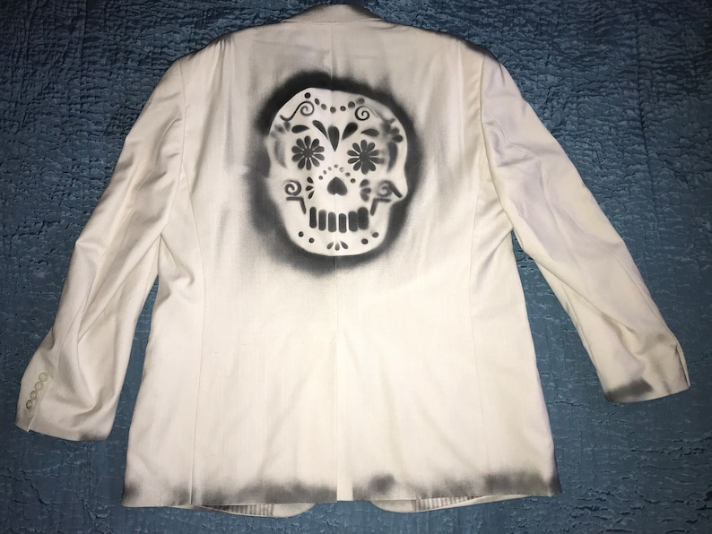 8220692c07f Day of the Dead mens jacket unique Halloween costume mens size