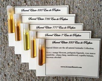 Aphrodisiac Sex Potion, Natural Perfume Samples, Sacred Elixir Collection, civet, deer musk, oud, beaver castoreum, animalic, JoAnne Bassett