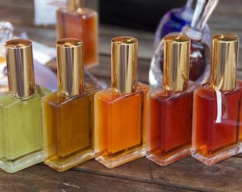 Mini Vial Collections, Natural Perfume Samples,  eau de perfume, Men's Cologne, frankincense incense, rose, jasmine JoAnne Bassett