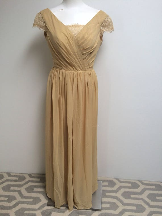 Vintage golden yellow gown