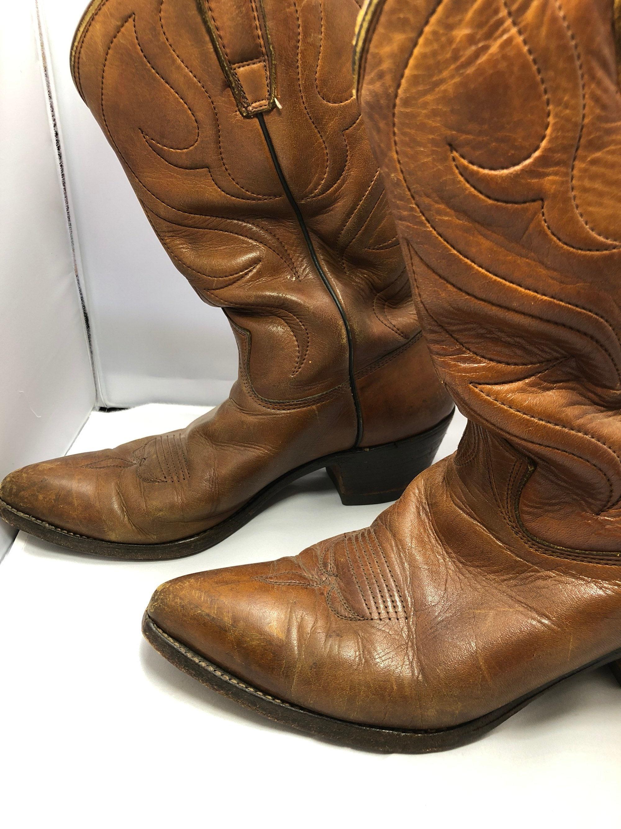 698cb2d7ba0 Vintage handmade mens cowboys boots