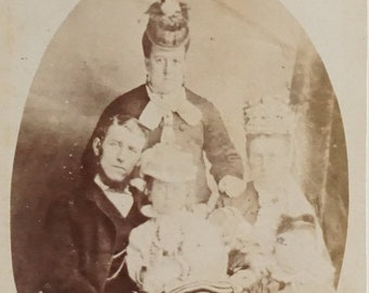 Scotland Victorian Scottish Family Top of New Row Vintage Photo 4 x 6.5  Photo by N K R Munro Dunfermline
