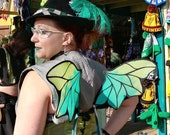 Custom Made Green Saga Alana Dragon Small Pair Wingalings Costume Fairy Wings