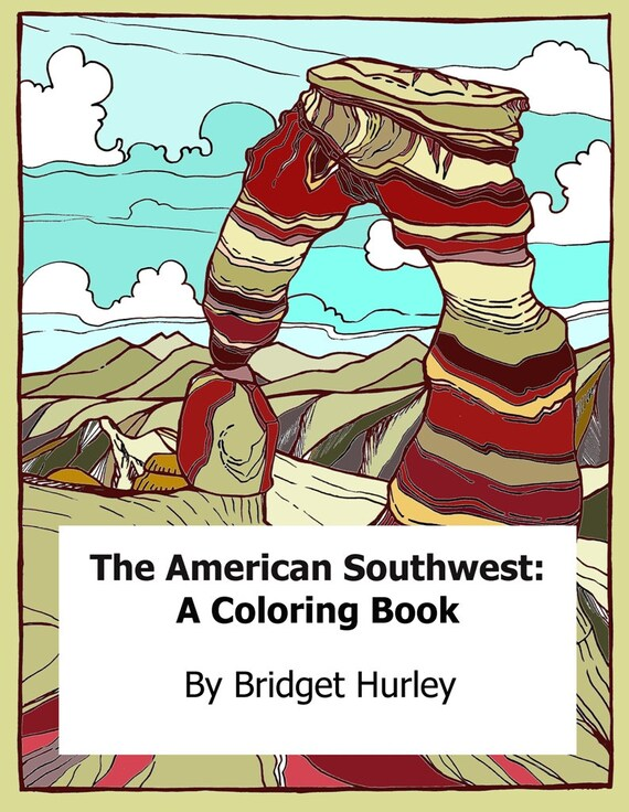The American Southwest Coloring Book Digital Download Adult Etsy