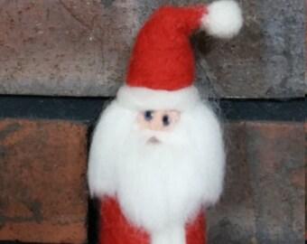 Santa Ornament Needle Felted Wool Figurine
