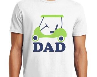 Golf Dad Shirt - Men's Golf Daddy Top - Dad Golfing Party Shirt - Matching Family Golfing Shirts - White T-shirt