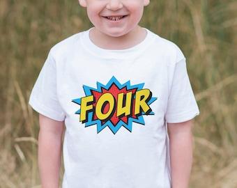Embroidered Shirt Custom Action Hero Comic Birthday Shirt