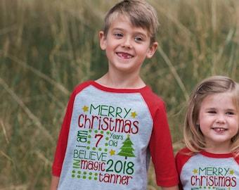 Merry Christmas Outfit - Kids Christmas Shirt - Boy or Girls Holiday Shirt - Christmas Stats Outfit - Kids Christmas Pajamas