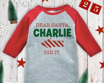 a76ae62deda Dear Santa Shirt Red Arrow - Cute Kids Christmas Outfit - Funny Sibling  Christmas Shirt - Boy Girl - Kids