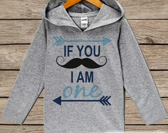 4cb5af296 First Birthday Boy Outfit - Kids Hoodie - Mustache Pullover - 1st Birthday  Shirt - Boys Mustache Hoodie - Blue Birthday Shirt - Boy Birthday