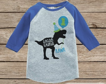 Boys Dinosaur Birthday Shirt