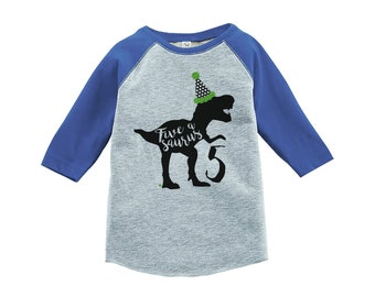 Dinosaur Five Birthday Shirt