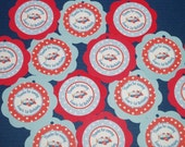 NEW - Airplane Theme Happy Birthday Party Favor Tags in Red and Blue