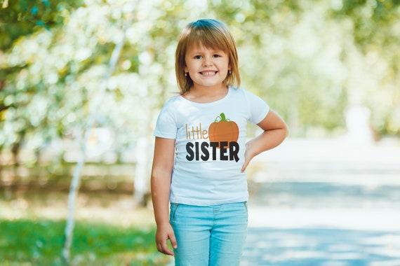 Petite soeur chemise - petite soeur Onepiece ou Tshirt - bébé fille chemise citrouille - grande soeur petite soeur chemises - Halloween, l'automne, automne