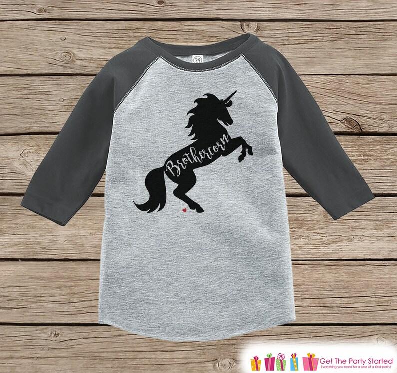 3e3142644 Boys Unicorn Shirt Brothercorn Shirt Brother Unicorn Shirt   Etsy