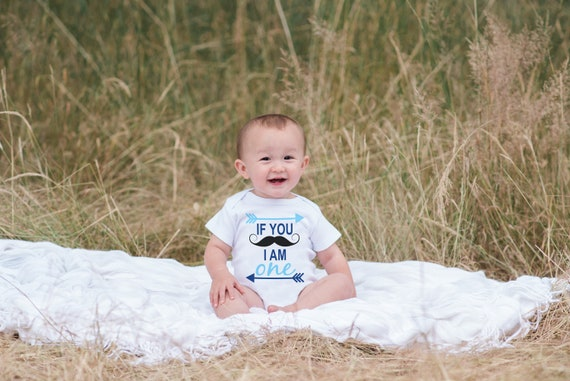 b75540fb8 Mustache Onepiece for First Birthday Party - I am One Shirt For Boy's 1st  Birthday Party - Little Man Mustache Bash Bodysuit Birthday Outfit